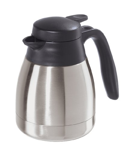 Oggi Solo 20-Ounce Thermal Vacuum Carafe with Stainless Steel Liner and Press Button Top -