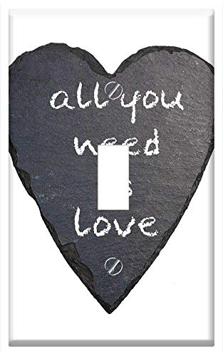 Switch Plate Single Toggle - All You Need Is Love 1967 Most Famous Song
