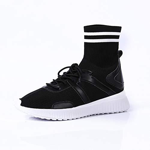 Elastiche Da Casual Spring Sneakers Donna Passeggio Knit Nero Shoes Platform Fall Traspiranti Yan Basse Scarpe Calze qHUzxw5TOz