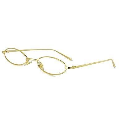 AMZTM Gafas de Sol Ovaladas Vintage - Gafas Retro Con Marco ...
