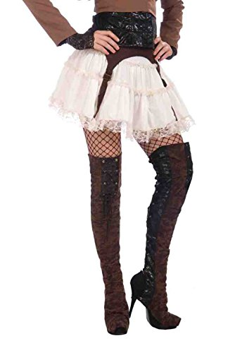 Steampunk Thigh High Boot Covers - Victorian Industrial & Science Fiction (Spat Boots)