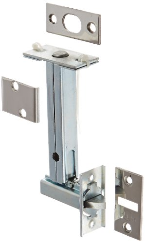 Rockwood 2960.26 Automatic Flush Bolt With Bottom Fire Bolt for Fire Rated Wood Core & Composite Doors, 1-1/8