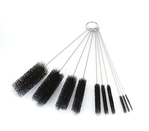 8 Inch Nylon Tube Brush Set - Variety Pack (10 pieces)