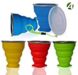 AVALEISURE Collapsible Silicone Travel Cup - The Genuine 10oz Foldable...