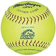MacGregor Pony Fast Pitch Softball, 12-inch (One Dozen)