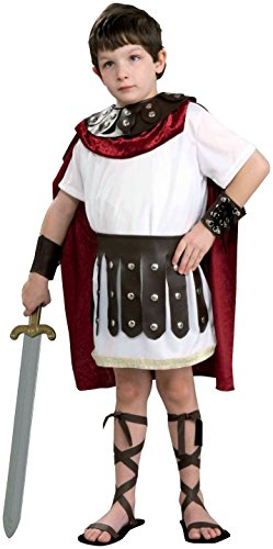 Kids Roman Gladiator Soldier Boys Halloween Costume Child Large (Roman Soldier Costumes Child)
