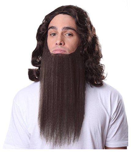 Short Brown Beard Costume (Men's Full Beard Costume Accessory and Adhesive Brown (Brown))