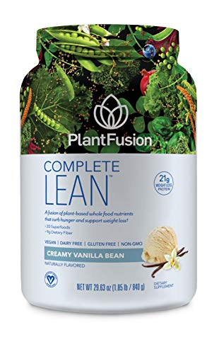 Lean Plant Based Weight Loss Protein Powder, Creamy Vanilla Bean, 29.06 oz Tub, 20 Servings, 1 Count, Gluten Free, Vegan, Non-GMO, Packaging May Vary ()