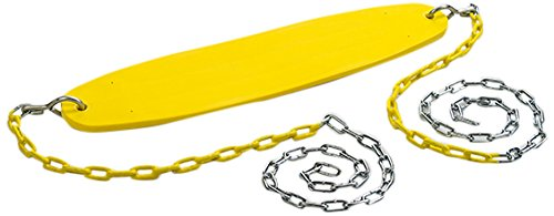 CREATIVE CEDAR DESIGNS Ultimate Swing Seat with Chains- Yellow, One Size