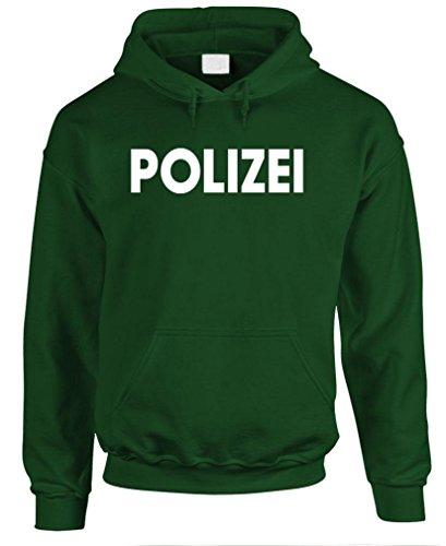 Polizei - German Police cop Novelty Duty Pullover Hoodie, M, Forest (Polizei-designer)