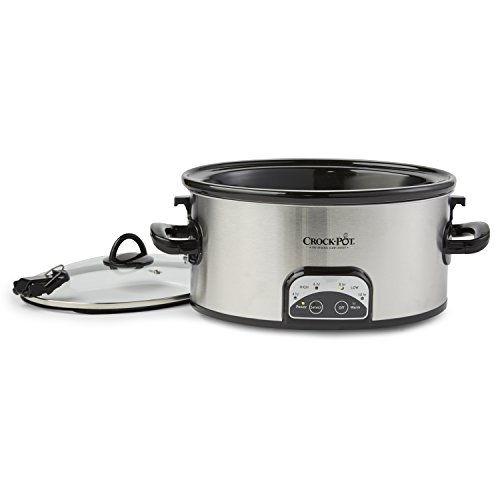 Crock-Pot SCCPVL605-S 6-Quart Programmable Cook & Carry Oval Slow Cooker, Stainless Steel by Crock-Pot (Image #1)