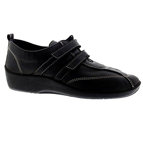 Black L5 velcro 2 ARCOPEDICO scarpa elasticizzata UXwHBHvq