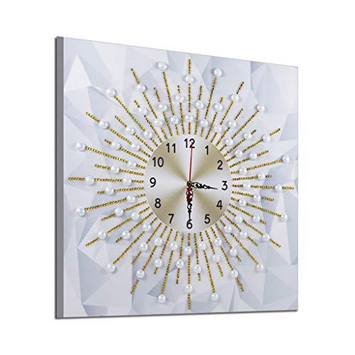 DIY 5D Wall Clock Diamond Painting Kit - Diamond Embroidery Rhinestone, Cross Stitch Arts Craft Supply for Home Wall Decor (35x35cm)