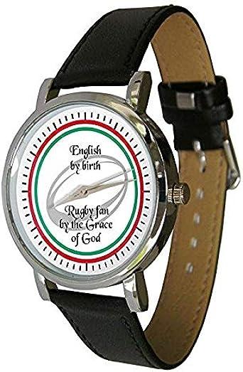 Inglés Rugby diseño de Ventilador Reloj. Regalo de Rugby. Correa ...