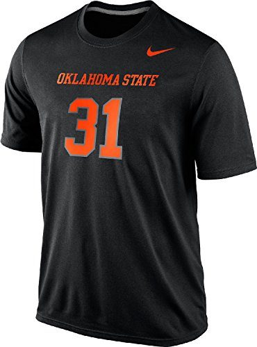 - Nike Oklahoma State Cowboys Men's #31 Legend Number Dri-FIT T-Shirt (Black, Medium)