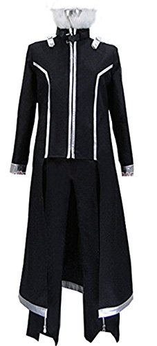 Vicwin-One Kirito Outfits Uniform Halloween Cosplay Costume (Male L) ()