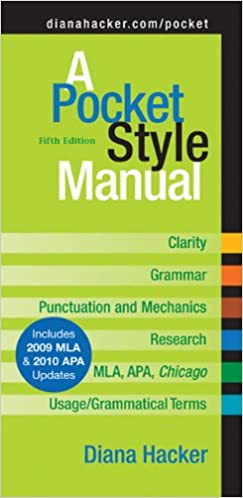 A Pocket Style Manual by Diana Hacker If your instructor has specific requirements for the format of your  research paper  check them