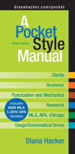 A Pocket Style Manual, Fifth Edition