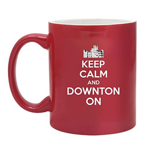 Downton Castle-Keep Calm And Downton On-11 Ounce Two Tone Ceramic Coffee Mug EXCLUSIVELY from THE GAG