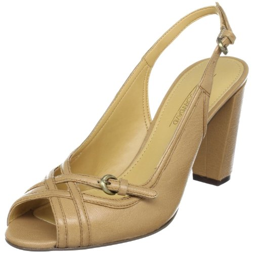 Circa Joan & David Women's Floral Open-Toe Pump,Mink,10 M US