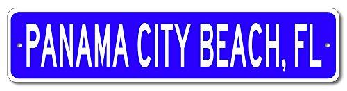 Custom Aluminum Sign PANAMA CITY BEACH, FLORIDA US City and State Name Sign - Blue - 4