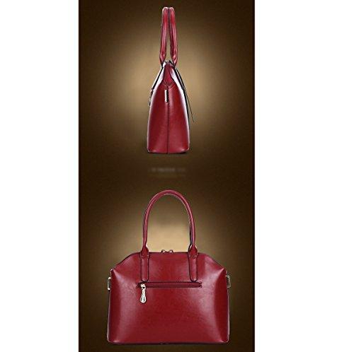 Mujer De Gama Alta Manera Sistema De Tres Pedazos Nuevo Solo Bolso De Hombro Bolso De Hombro Inclinado Temperamento Color Sólido Bolso Red