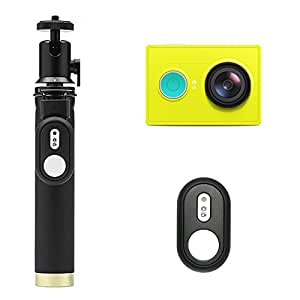 YI Action Camera with Selfie Stick & Bluetooth Remote (US Edition) Lime Green