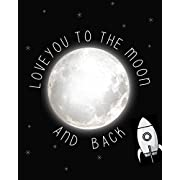 Love You to the Moon and Back Children's Wall Art Print 11x14, Nursery Decor, Kid's Wall Art Print, Kid's Room Decor, Gender Neutral Decor, Children Motivation Quotes