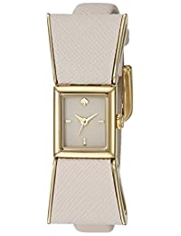 Kate Spade New York Women's 1YRU0898 Kenmare Gold-Tone Stainless Steel Watch with White Leather Band