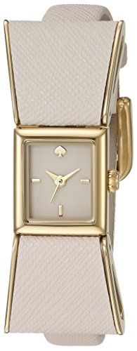 kate spade new york Women's 1YRU0898 Kenmare Gold-Tone Stainless Steel Watch with White Leather ()
