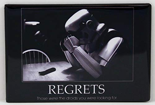 Stormtrooper Regrets Refrigerator Magnet.Those were the droids you were looking for.