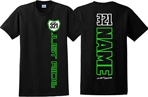 JUST RIDE Youth Motocross Number Plate Shirt MX Moto Persona