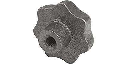 40 mm Diameter Natural Tumbled Finish Style D Metric Kipp 06200-408 Gray Cast Iron Tapped with Counter Bore Star Grip