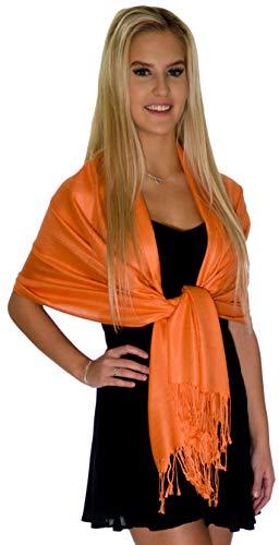 Pashmina Shawls and Wraps - Large Scarfs for Women - Party Bridal Long Fashion Shawl Wrap with Fringe Petal Rose ()