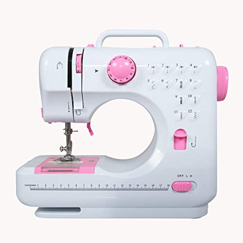 Electric Mini Sewing Machine Multi-Funtion Household w/Foot Pedal for Beginners