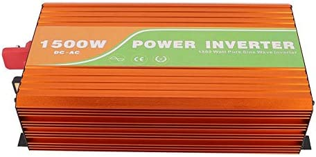 Solar Wechselrichter,Solar Power Inverter 1500W reine Sinuswelle Hochfrequenz Solar Wechselrichter 110V Ausgangsspannung,Spitzenleistung 3000W,Reine Sinuswelle Solarinverter (48V)