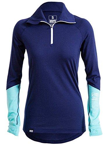 Mons Royale - Camiseta térmica - para mujer navy/mint