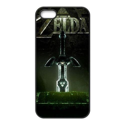 E4T67 Legend of Zelda C1P2HT iPhone 5 5s Handy-Fall Hülle schwarz DE3HGT3FK decken