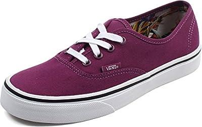 Vans - Unisex-Adult Authentic Shoes, Size: 10 B(M) US Womens, Color: (Cuban Floral) Dark Purple/True White