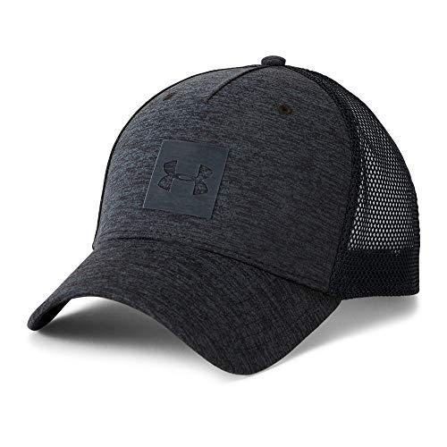 Under Armour Men's Twist Trucker Cap, Black (001)/Stealth Gray, One - Mesh Trucker Adjustable Hat