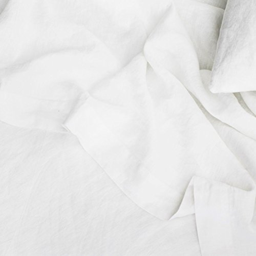 (Merryfeel Luxurious 100% Pure French Linen Flat Sheet - Queen)