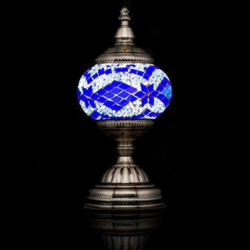 Mosaic Lamp-Handmade Turkish Mosaic Table Lamp with Mosaic Lantern,Bronze Base,Unique Table Lamp for Room - Mosaic Lamp Table Purple
