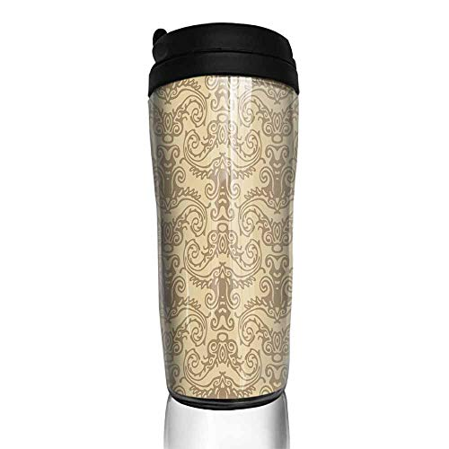 coffee cups warmer seamless damask wallpaper background 12 oz,coffee cup funny for men