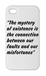 """""""""""The mystery of existence is the connection between our Iphone 5-5s plastic case"""