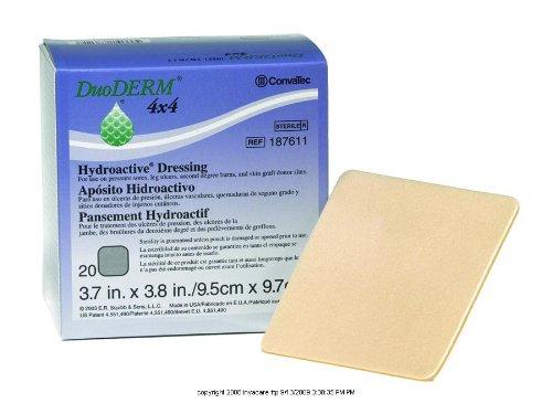 DuoDERM CGF Control Gel Formula Dressing, Duo-D Drs Hydcol 4X4 in, (1 EACH, 1 EACH)