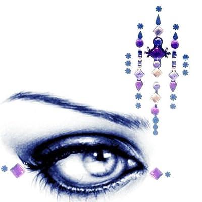 Geo Gems Rostro y Ojos–3piezas–oro de color morado/lila (26)