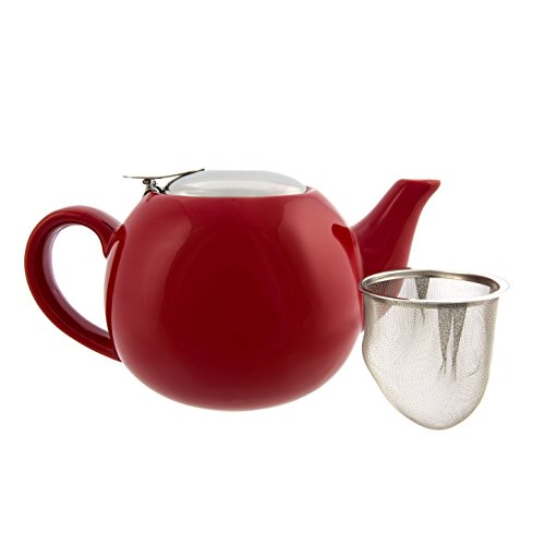 Primula Oxford Ceramic Teapot – Glazed Interior – Does Not Retain Flavor – Stainless Steel Infuser and Lid – 24 Ounces – - Shopping Oxford Outlet