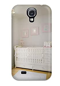 New Arrival Cover Case With Nice Design For Galaxy S4- White And Pink Nursery With Light Wood Floors
