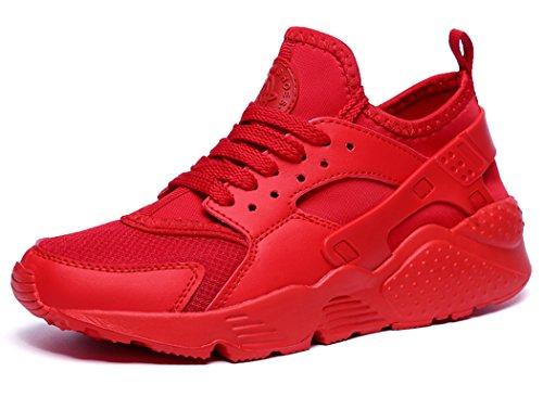 MXXM Uomo Donna Scarpe da Ginnastica Corsa Sportive Trekking Running Sneakers Fitness Interior Casual all'Aperto Rosso B