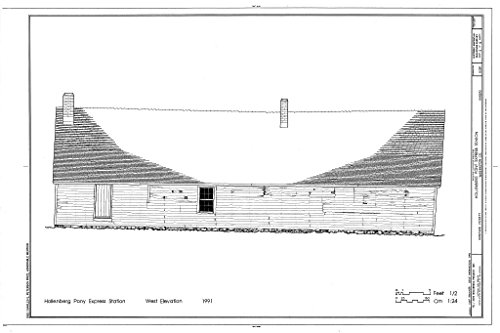 Structural Drawing HABS KANS,101-HAN.V,1- (sheet 5 of 10) - Hollenberg Pony Express Station, Route 243, 6.9 miles south of Nebraska border, Hanover, Washington County, KS 66in x 44in (Pony Express Route)